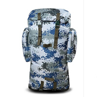 户外丛林迷彩背包登山包双肩男军绿携行具双肩背囊带金属支架大容量特种自由兵迷彩战术背包双肩