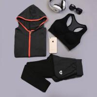 20180416001948370韩国瑜伽服套装秋冬三件套 宽松显瘦跑步运动健身衣服女