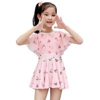 儿童泳衣女孩女童宝宝甜美公主连体游游衣中大童韩国裙式防晒泳装