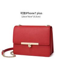 新时尚女包斜挎包链条包单肩包小方包fk 红色