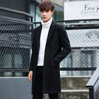 毛呢大衣男士中长款韩版修身秋冬季新款加厚毛尼外套