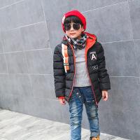 男童时尚羽绒棉衣秋冬季新品儿童韩版中长外套中大童潮流连帽