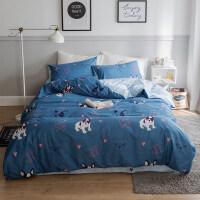 儿童床单三件套1.2m床上用品卡通风男孩床套被套四件套