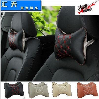 车载靠枕 仿红酒头枕 4色可选26*17通用颈枕 汽车头枕 一对装【包邮--新品上架】