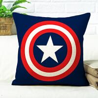 漫威美国队长抱枕被子两用蜘蛛侠钢铁侠汽车沙发靠垫变形金刚靠枕