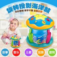 旋转木马宝宝男电动手拍鼓婴儿益智拍拍鼓女音乐儿童玩具1-2周岁