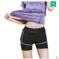 跑步运动裤假两件速干裤女弹力休闲运动服装女紧身短裤女显瘦健身裤支持礼品卡支付