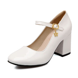 ELEISE美国艾蕾莎新品098-7338甜美漆皮高跟女士单鞋