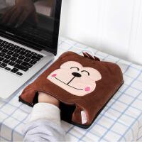 伊暖儿 暖手鼠标垫 USB保暖鼠标垫 可爱卡通 发热鼠标垫 猴子