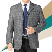 春秋中老年男士西服外套爸爸装单西便服中年休闲薄款西装单件上衣