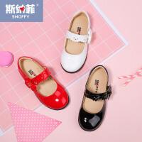 斯纳菲童鞋 女童皮鞋 宝宝公主鞋春秋新时尚韩版儿童女孩单鞋
