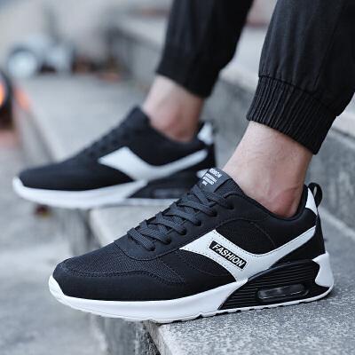 2018新款青年潮鞋韩版运动休闲鞋气垫鞋跑步鞋百搭鞋子