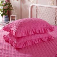 韩版夹棉加厚枕头套信封式枕皮单人花边枕套一对 48cmX74cm