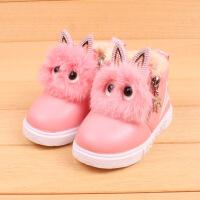 2017新款女童棉鞋 加厚儿童棉鞋韩版小中童儿童雪地靴21-30码