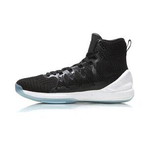 李宁LINING幽灵男子一体织透气包裹防滑高帮篮球专业比赛鞋ABAM065-1