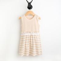彩棉城堡 童装彩棉婴幼儿宝宝裙子儿童连衣裙 百褶裙女童纯棉