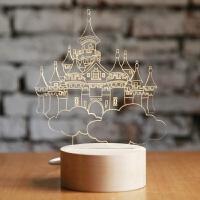 移动城堡天空之城创意礼品小夜灯圣诞情人节生日礼物 可充电底座遥控开关 发顺丰