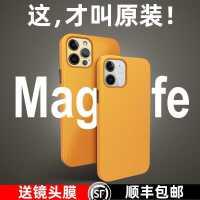 iPhone12ProMax手机壳苹果12套皮革MagSafe磁吸花菱草保护皮配件mini套全包por防摔12pro新款