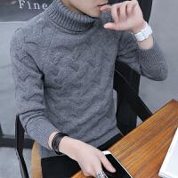 男士冬季高领毛衣韩版修身潮流打底针织衫个性男装保暖线衣服