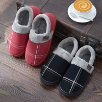 棉拖鞋冬季毛毛情侣棉拖鞋男女包跟防水室内家居保暖防滑厚底韩版居家用