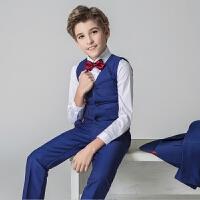 英伦走秀男童春夏 儿童礼服花童演出服钢琴表演长袖中大童马甲套装