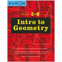 【首页抢券300-100】Kumon Geometry Intro to Grades 6-8 公文式教育 几何入门英语