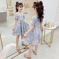 女童连衣裙夏装儿童大童装女孩夏季碎花裙子
