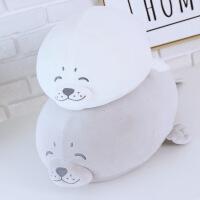 软体羽绒棉海豹公仔海狮抱枕靠垫布娃娃女生生日礼物