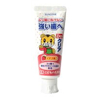 日本原装进口巧虎Sunstar儿童宝宝可吞咽牙膏防蛀去黄斑草莓味70g