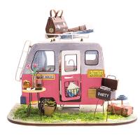 小房子模型DIY手工制作��意小孩子生日�Y物迷你小屋女生