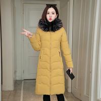 【极速发货 超低价格】棉服女中长款2020新款韩版修身显瘦过膝毛领棉袄保暖棉衣冬装外套