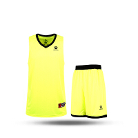KELME卡尔美 K15Z104 男款V领篮球服套装 运动训练套装 速干透气背心网眼短裤套装
