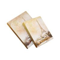 金谷文具笔记本复古油画活页本韩国创意日记本活页夹学生记事本子