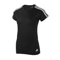 Adidas阿迪达斯 女装 2018新款运动休闲透气短袖T恤 S97183