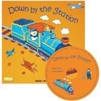 【现货】英文原版 在车站 Down by the Station [With CD] 低幼绘本有声书 大开本(平装书+