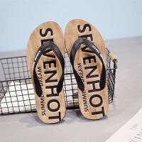 夏季男士人字拖户外休闲夹脚凉拖鞋男潮流沙滩鞋耐磨