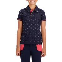 户外运动儿童短袖 POLO衫 男童女童可爱图案舒适排汗修身