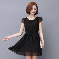 夏天杭州反季连衣裙女2018新款夏季中长款显瘦裙子