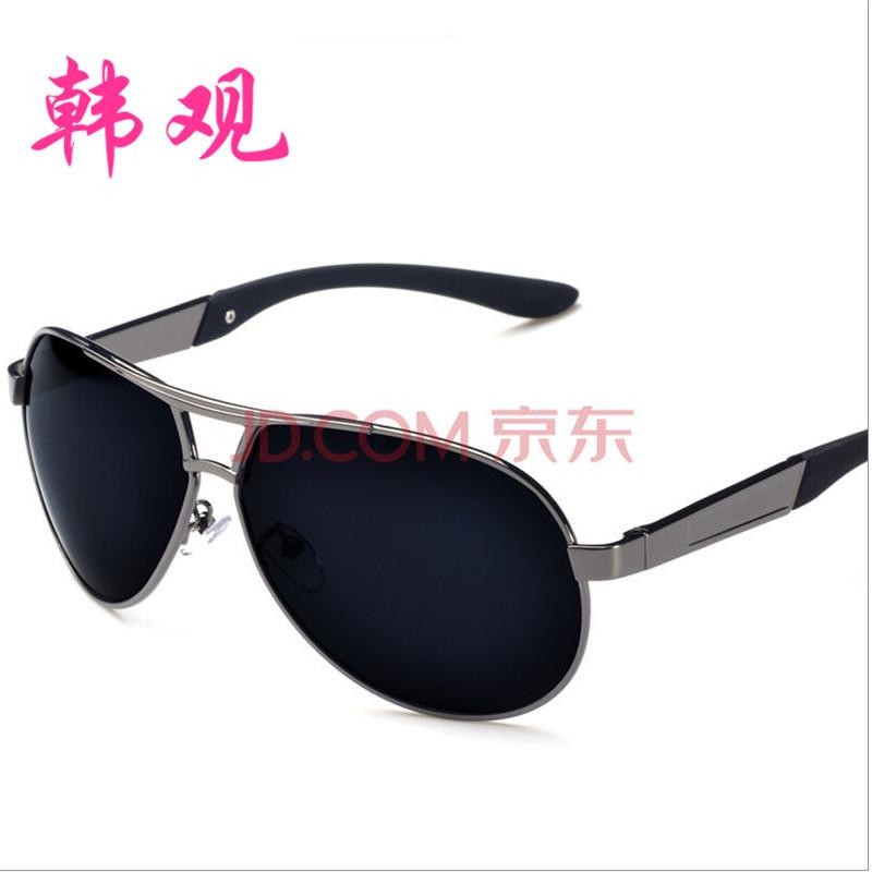 韩观 新款男士偏光太阳镜 墨镜 太阳眼镜男款 大框  默认规格