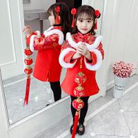 女童棉衣中���L旗袍唐�b����拜年服�和��h服冬�b