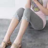 2018春夏季新款大码七分裤女士外穿打底裤女裤子薄款弹力高腰