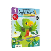 【首页抢券300-100】Evan-Moor Smart Start Sight Words Grade 1 聪慧系列