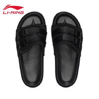 李宁拖鞋男鞋2018新款轻便潮流休闲男士夏季运动鞋AGAN019