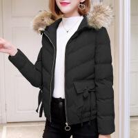 小棉袄女装冬天短款新款带帽棉衣原宿风冬季宽松毛领加厚外套