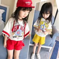 女童运动套装童装女儿童夏季短袖洋气女孩衣服两件套