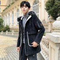 呢子大衣冬季男韩版英伦风中长款大衣潮流帅气风衣加厚外套潮男