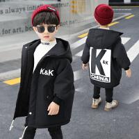 男童中长款棉衣中大童冬季棉袄外套洋气潮童