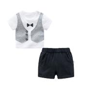 男童夏装短裤子套装婴儿短袖t恤1岁6个月4宝宝衣服