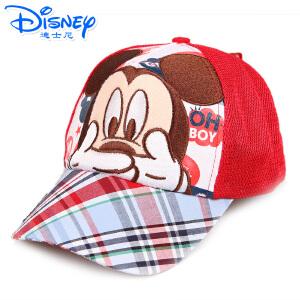 迪士尼米奇米妮男女童帽子幼儿童棒球帽网眼帽透气遮阳帽