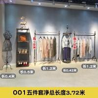 服装店展示架铁艺服装架复古欧式女装店货架中岛架衣服货架子